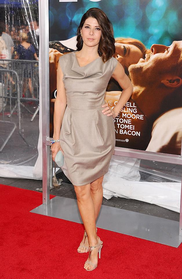 "<a href=""http://movies.yahoo.com/movie/contributor/1800024659"">Marisa Tomei</a> at the New York City premiere of <a href=""http://movies.yahoo.com/movie/1810157025/info"">Crazy, Stupid, Love</a> on July 19, 2011."