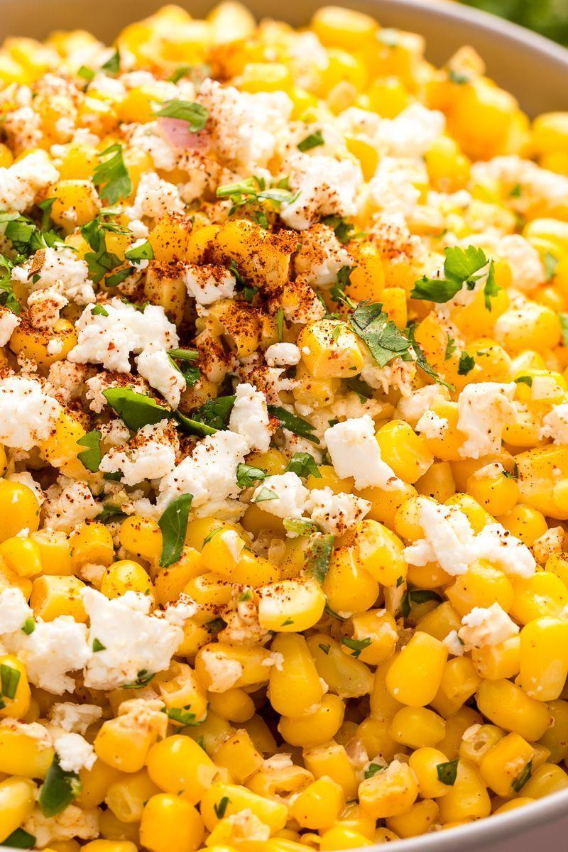 "<p>Looking for ways to use up that sweetcorn? Look no further! This simple salad hits all the right notes: creamy, spicy, salty and citrusy, it's the perfect light side for all that heavy summer party food.</p><p>Get the <a href=""https://www.delish.com/uk/cooking/recipes/a29545577/mexican-corn-salad-recipe/"" rel=""nofollow noopener"" target=""_blank"" data-ylk=""slk:Mexican Corn Salad"" class=""link rapid-noclick-resp"">Mexican Corn Salad</a> recipe.</p>"