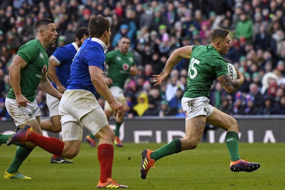 Against France, Ireland produced flashes of the form that made them virtually unbeatable last year (AFP Photo/DAMIEN MEYER)