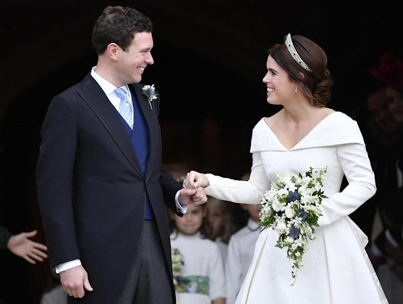 Princess Eugenie with her husband Jack Brooksbank on their wedding day (Getty Images)