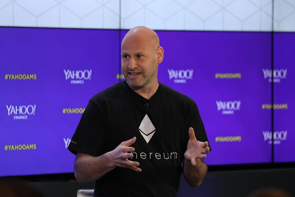 Joseph Lubin speaks at Yahoo Finance's All Markets Summit: Crypto in San Francisco, Calif., on June 14, 2018. (Jeremy Waldorph/Oath)