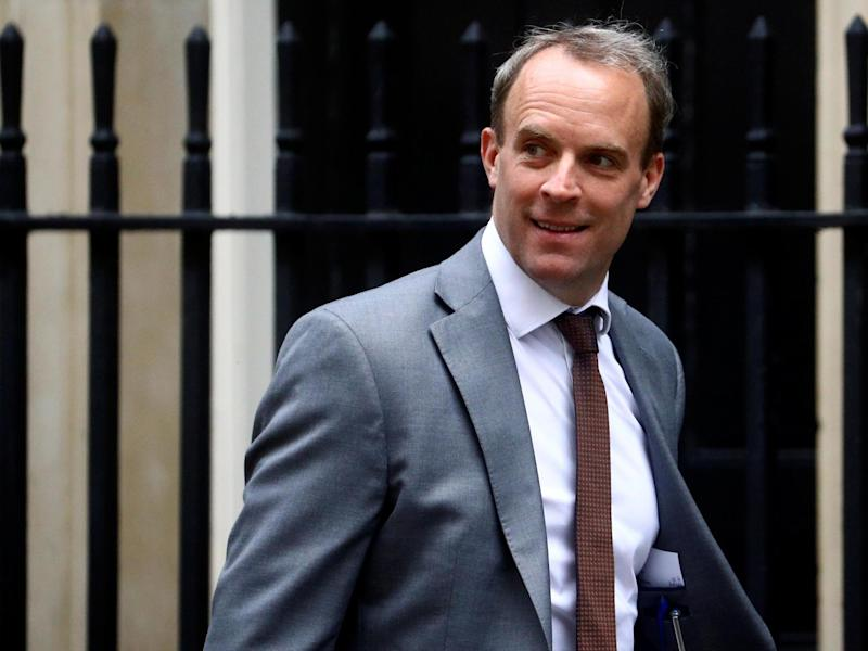 Foreign secretary Dominic Raab at Downing Street, London, on 2 July, 2020: REUTERS/Hannah McKay