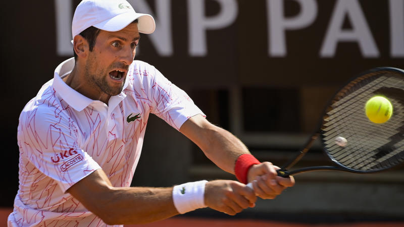 Novak Djokovic, pictured here in action at the Italian Open.
