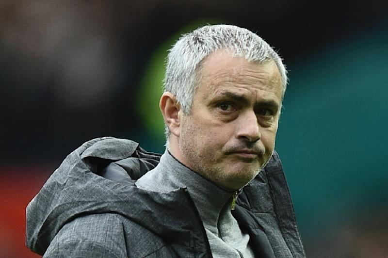 Manchester United's Portuguese manager Jose Mourinho expects to be without five first-team players against West Bromwich Albion on Saturday, including the injured Paul Pogba and suspended Zlatan Ibrahimovic (AFP Photo/Oli SCARFF                          )