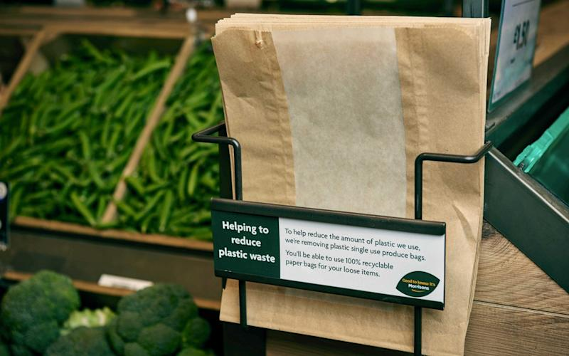 Morrisons is bringing back paper bags to reduce its use of plastic - PA