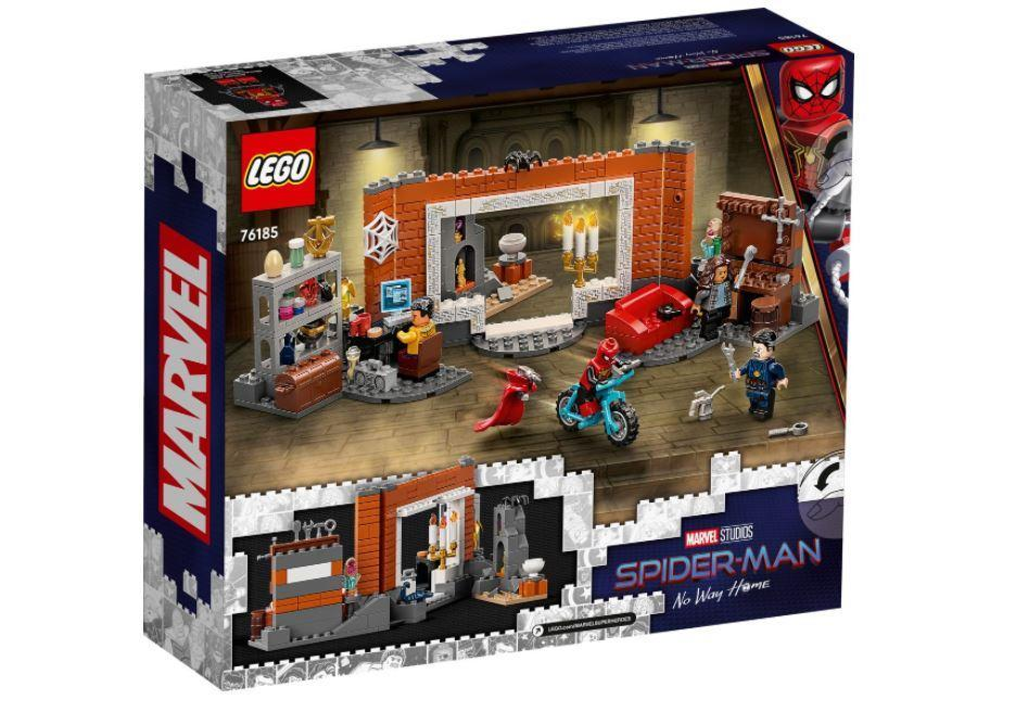 Back box cover art from LEGO's Spider-Man: No Way Home set.