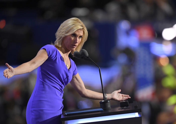 Conservative political commentator Laura Ingraham speaks during the third day of the Republican National Convention in Cleveland, Ohio, July 20, 2016. (Photo: Mark J. Terrill/AP)