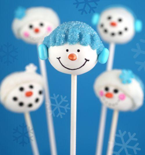 """<p>Decorate this Frosty-inspired sweet with different snowmen faces.</p><p><strong>Get the recipe at <a href=""""http://www.bakerella.com/red-hot-holidays/"""" rel=""""nofollow noopener"""" target=""""_blank"""" data-ylk=""""slk:Bakerella"""" class=""""link rapid-noclick-resp"""">Bakerella</a>.</strong></p><p><a class=""""link rapid-noclick-resp"""" href=""""https://www.amazon.com/Bakerpan-Food-Coloring-Markers-Black/dp/B01N2H7T60?tag=syn-yahoo-20&ascsubtag=%5Bartid%7C10050.g.22841709%5Bsrc%7Cyahoo-us"""" rel=""""nofollow noopener"""" target=""""_blank"""" data-ylk=""""slk:SHOP EDIBLE INK PENS"""">SHOP EDIBLE INK PENS</a></p>"""