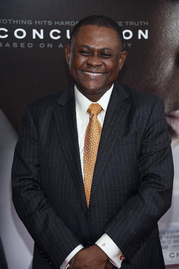 Bennet Omalu, a Nigerian-born neuropathologist, authored an influential paper in the history of sports medicine - with a focus on the health risks to NFL players (AFP Photo/Dimitrios Kambouris)