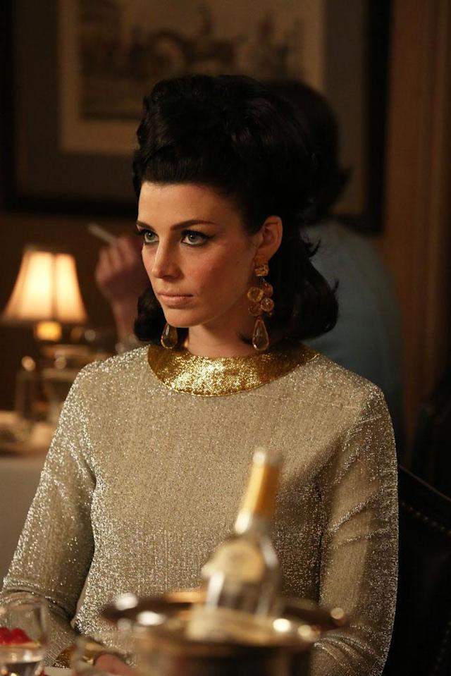 "Megan Draper (Jessica Pare) in the ""Mad Men"" episode, ""For Immediate Release."""