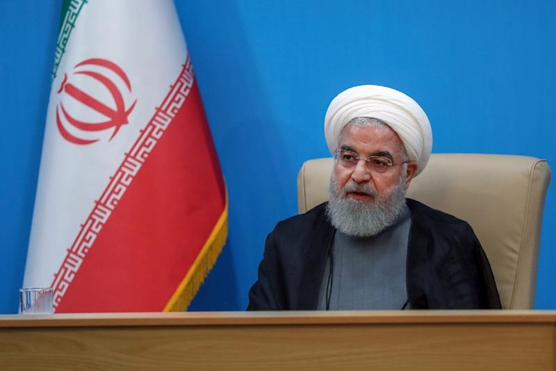 Iranian President Hassan Rouhani blamed the United States for regional tensions (AFP Photo/-)