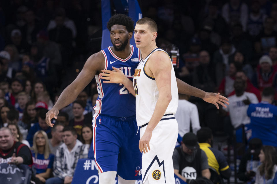 Putting both Joel Embiid and Nikola Jokic on First Team All-NBA complicates the entire roster. (Mitchell Leff/Getty Images)