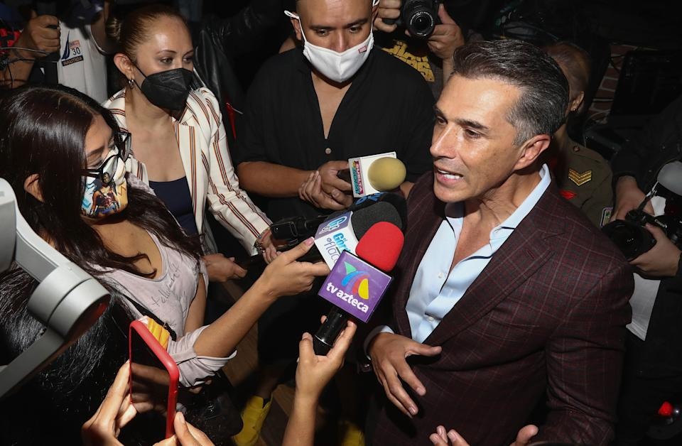 MEXICO CITY, MEXICO - MAY 19: Sergio Mayer speaks with the press during the media presentation of the show