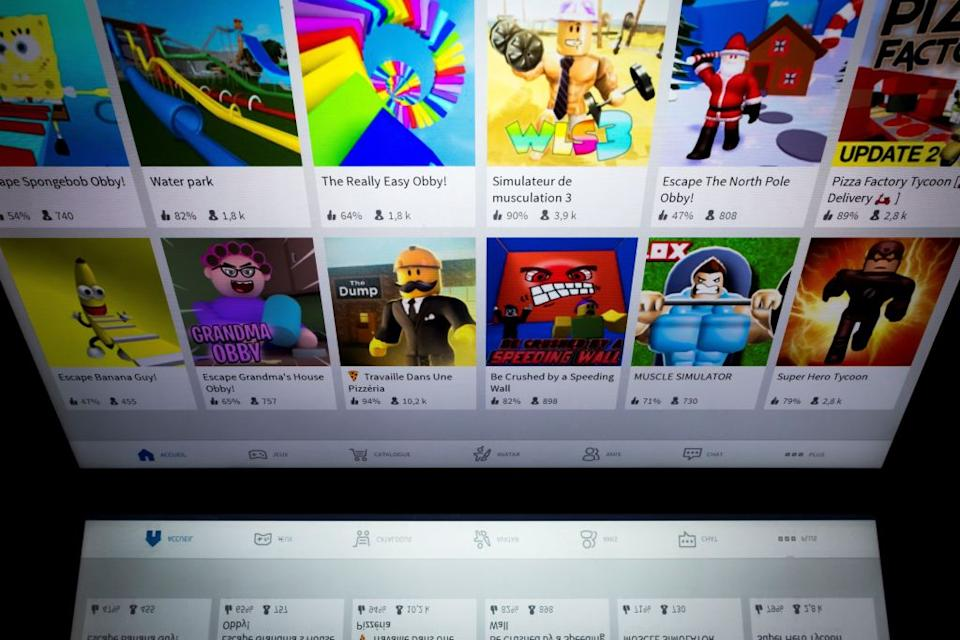 Online multiplayer game Roblox went from strength to strength this year, reaching $1 billion in revenues since 2016. The platform has more than 100 million active monthly users (Picture: AFP/Getty)