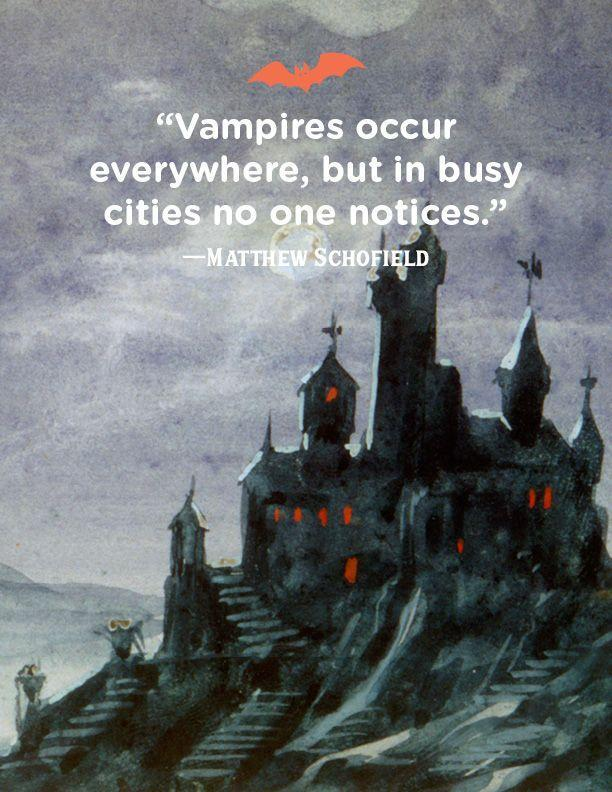 """<p>""""Vampires occur everywhere, but in busy cities no one notices."""" </p>"""