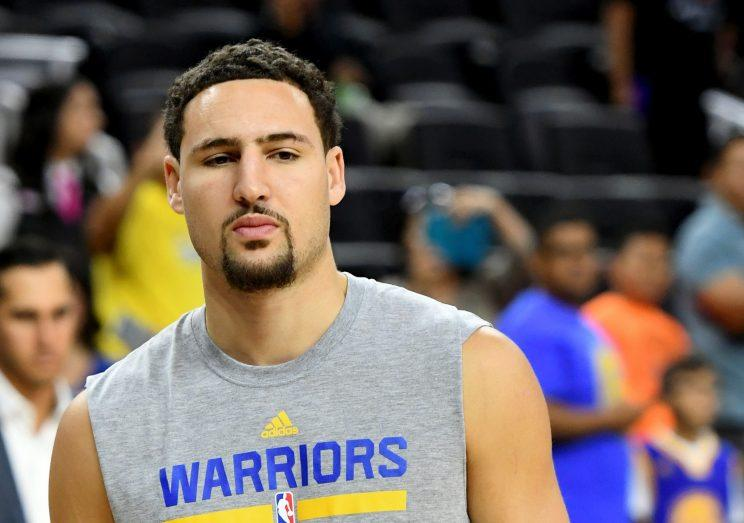 Klay Thompson was not pleased on Friday. (Getty Images)