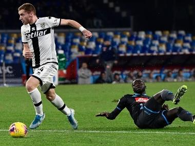 Serie A: Napoli concede late goal to lose 2-1 to Parma; Brescia notch up second straight win, beat Lecce 3-0 at home