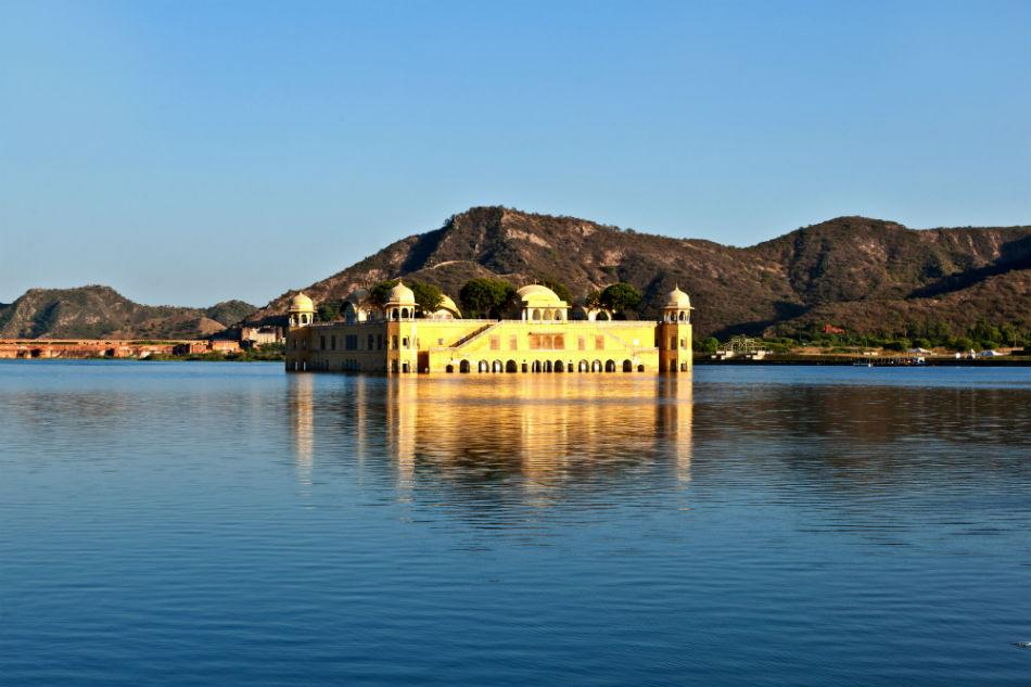 Water Palace  or Jal Mahal in Man Sagar Lake