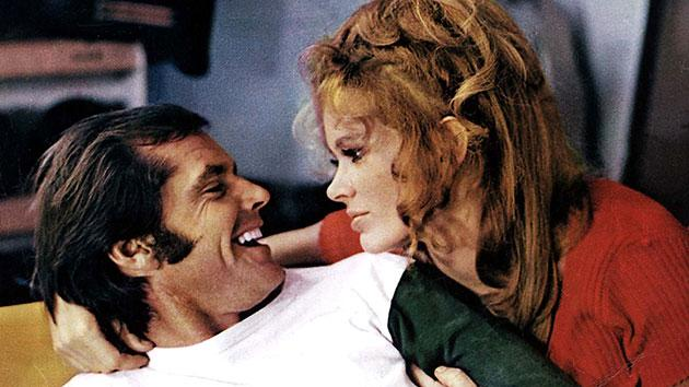 Karen Black, right, and Jack Nicholson in 'Five Easy Pieces'