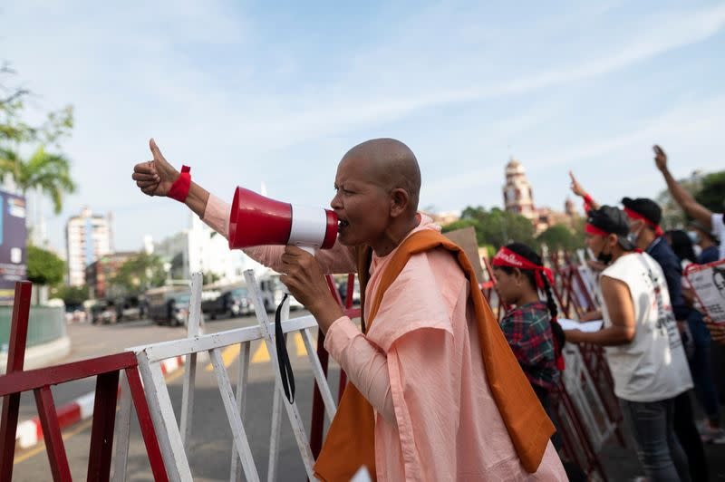 Protest against the military coup continues, in Yangon