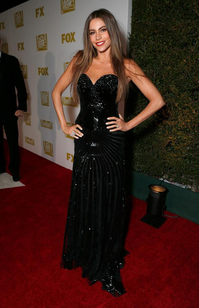 IMAGE DISTRIBUTED FOR FOX SEARCHLIGHT - Actress Sofia Vergara attends the Fox Golden Globes Party on Sunday, January 13, 2013, in Beverly Hills, Calif. (Photo by Todd Williamson/Invision for Fox Searchlight/AP Images)