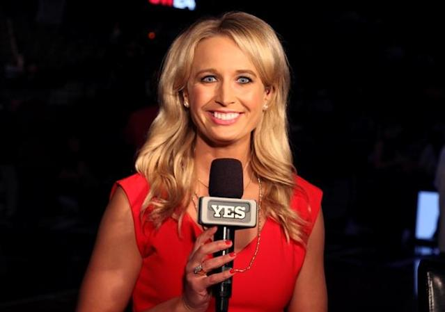Sarah Kustok will serve as color analyst for the Brooklyn Nets this season. (YES Network)