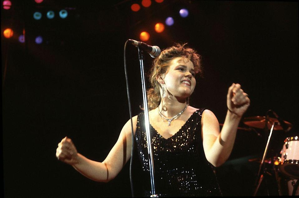 """<p>The lead singer of the Go-Go's, Belinda Carlisle spent the first half of the '80s with chart toppers like """"We Got the Beat"""" and """"Our Lips Are Sealed<em>."""" </em>The band broke up in 1985 and she went on to have a successful solo career with the hit """"Heaven Is a Place on Earth.""""</p>"""