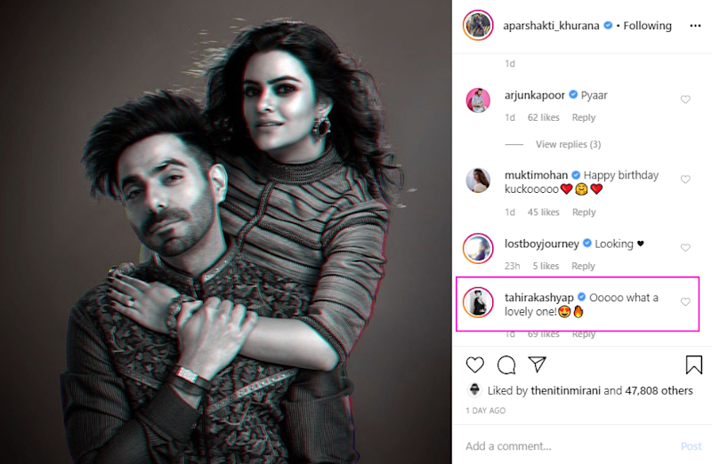 Aparshakti Khurana and Aakriti Ahuja