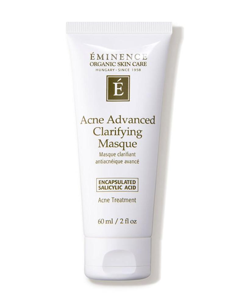 """If you have more acne-prone [skin] or your skin is breaking out (hello quarantine life, we&rsquo;re looking at you!), opt for the <a href=""https://fave.co/2XIOZa6"" target=""_blank"" rel=""noopener noreferrer"">Eminence Acne Advanced Clarifying Mask</a>. The clays in this mask help to absorb excess oil, and the salicylic acid helps to relieve inflammation from breakouts-to-be"" &mdash; <strong>Serron at HeyDay</strong>. Find it for $58 at <a href=""https://fave.co/2XIOZa6"" target=""_blank"" rel=""noopener noreferrer"">Dermstore</a>."