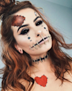 Can't be bothered hunting down a Halloween costume this year? Well, you won't need one if you can pull off any of these spooky makeup looks. Photo: Instagram