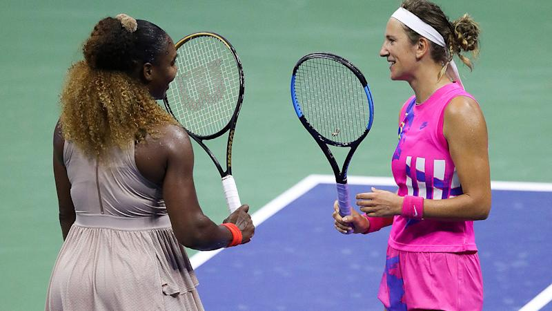 Serena Williams, pictured here congratulating Victoria Azarenka after their US Open semi-final match.