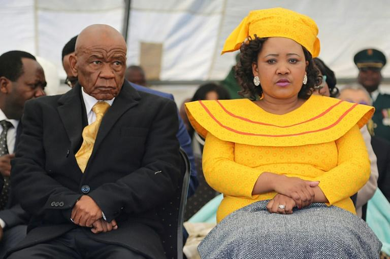 Flashback to June 16, 2017: Thabane and his future wife, Maesaiah Thabane, attend his inauguration, two days after his wife's murder