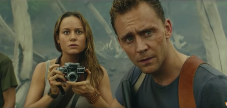 Brie Larson and Tom Hiddleston in 'Kong: Skull Island' (Photo: