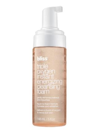 """<p>Morning and night, use this cleanser to make your skin <em>really</em> clean—no scrubbing necessary. With vitamin C and a dose of oxygen, this face wash reinvigorates dull skin after a long day (or night). <span></span></p><p><span>Bliss Triple Oxygen Instant Energizing Cleansing Foam, $14, <a rel=""""nofollow"""" href=""""https://www.blissworld.com/skin-care/bliss-triple-oxygen-instant-energizing-cleansing-foam""""><u>blissworld.com</u></a>.<span></span><br></span></p>"""