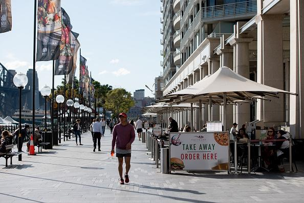 Eastbank bar and cafe pictured open for business in Sydney, Australia.