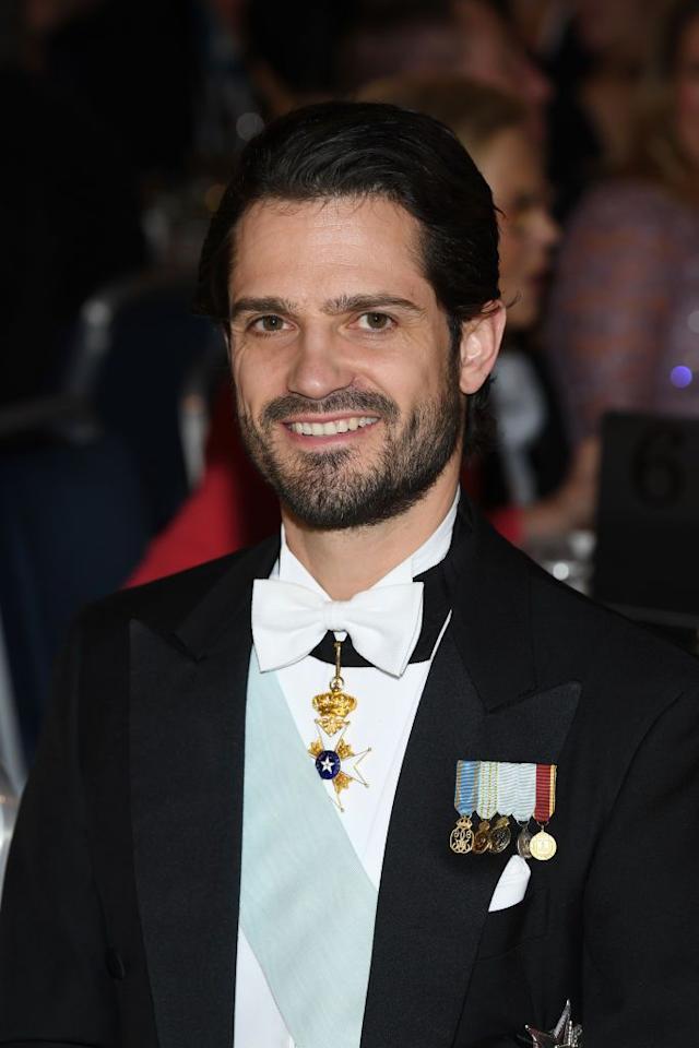 <p>Prince Carl Phillip attends the Nobel Prize Banquet at Stockholm's City Hall. </p>