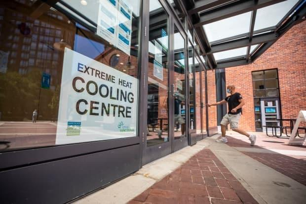 A cooling centre is pictured at the Roundhouse Community Centre in Vancouver on Thursday, June 24, 2021.  (Ben Nelms/CBC - image credit)