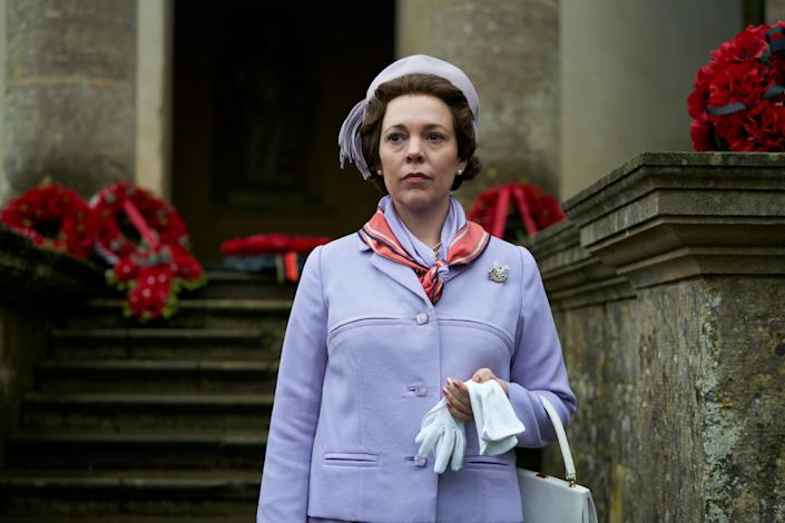 Royal ties: Colman recently won an Oscar for her portrayal as Queen Anne (Netflix )