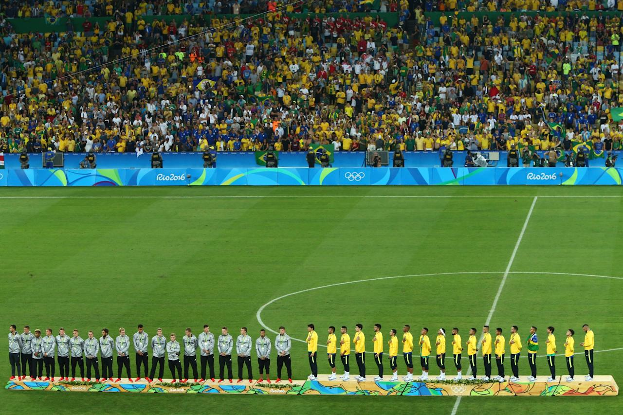 <p>Brazil winning the Men's final gold at the Maracana in August 2016… </p>