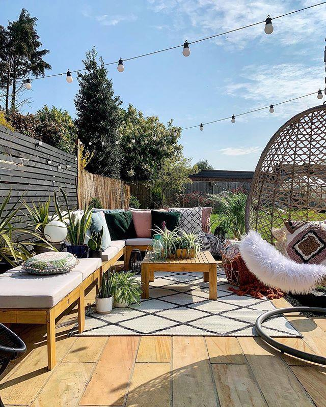 "<p>Our gardens are an extension of our indoor spaces, so 2021 will see more of us tap into <a href=""https://www.housebeautiful.com/uk/garden/g32443194/best-garden-sofa/"" target=""_blank"">outdoor sofas</a>, <a href=""https://www.housebeautiful.com/uk/garden/g32728371/outdoor-rugs/"" target=""_blank"">garden rugs</a>, <a href=""https://www.housebeautiful.com/uk/garden/g32139876/outdoor-cushions/"" target=""_blank"">outdoor cushions</a> and potted plants. </p><p>'The inside outside garden trend is all about creating flow from your inside space to your outdoor space, so one naturally flows into the other,' say the team. 'Choose plants that work both indoors and out to create a transition between the living and outside space. Good options include geranium, boxwood and calla lily.' </p><p><a href=""https://www.instagram.com/p/CEANPDgFqn6/"">See the original post on Instagram</a></p>"