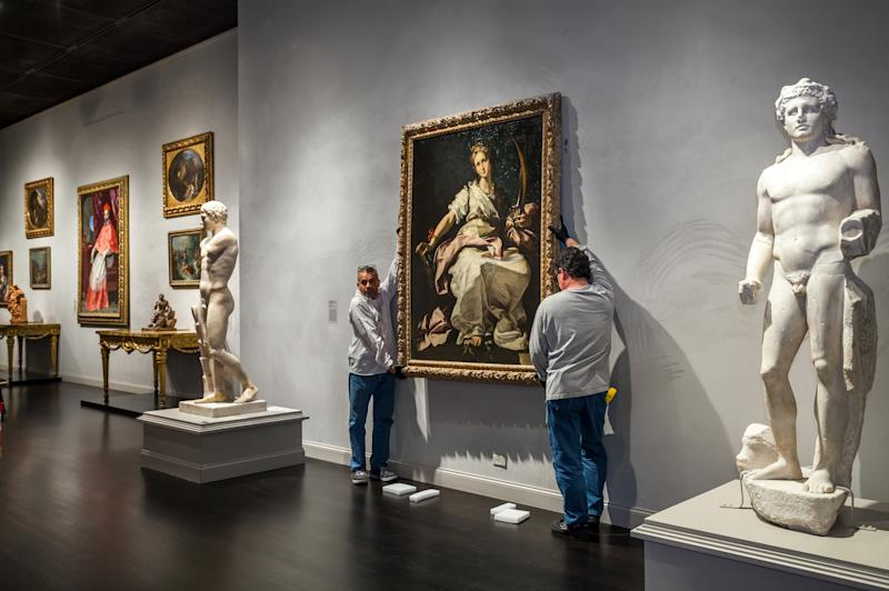 Los Angeles museum gains painting, could lose seal