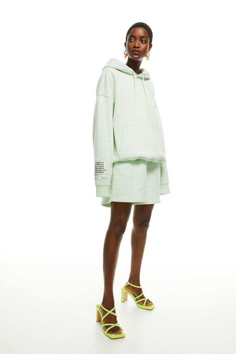 <p>Get cozy in this cute mint green <span>H&amp;M Cotton Hoodie</span> ($50).</p>