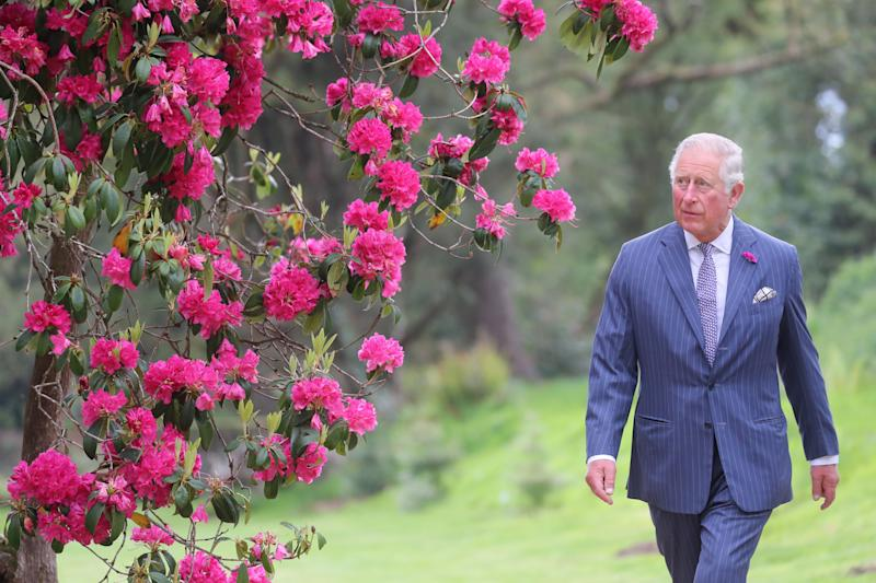 The Prince of Wales during a visit to Kilmacurragh Botanic Gardens, on the second day of the Royal visit to Ireland.