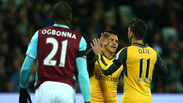 "Arsenal stars Alexis Sanchez and Mesut Ozil ""behave like they want to be at the club"", according to manager Arsene Wenger."