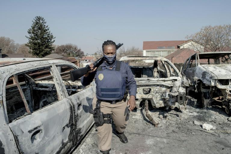 Police were unable to stop some looting and destruction in Johannesburg