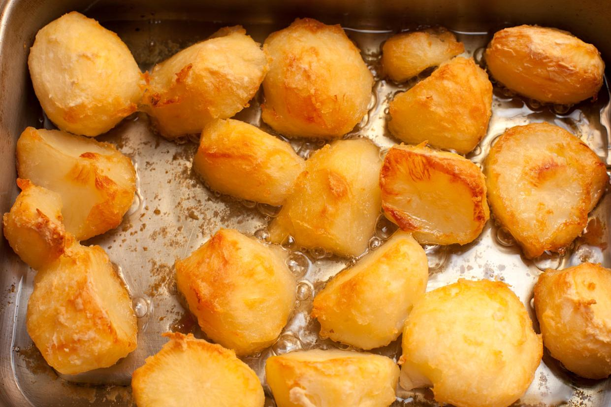 Roast potatoes are Britain's favourite Sunday roast trimming (Getty)
