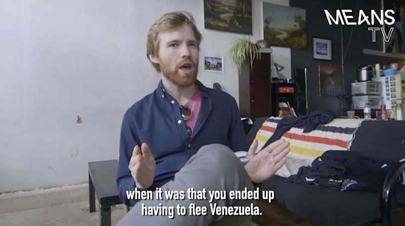 """A screengrab from Means TV's """"Chaos in Venezuela"""""""