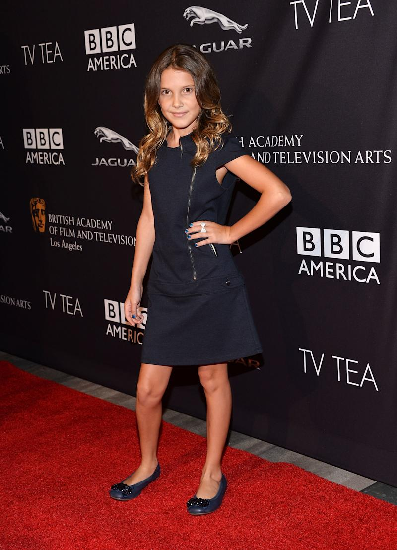 Millie Bobby Brown arrives at the BAFTA Los Angeles TV Tea presented by BBC and Jaguar at SLS Hotel on August 23, 2014 in Beverly Hills, California.