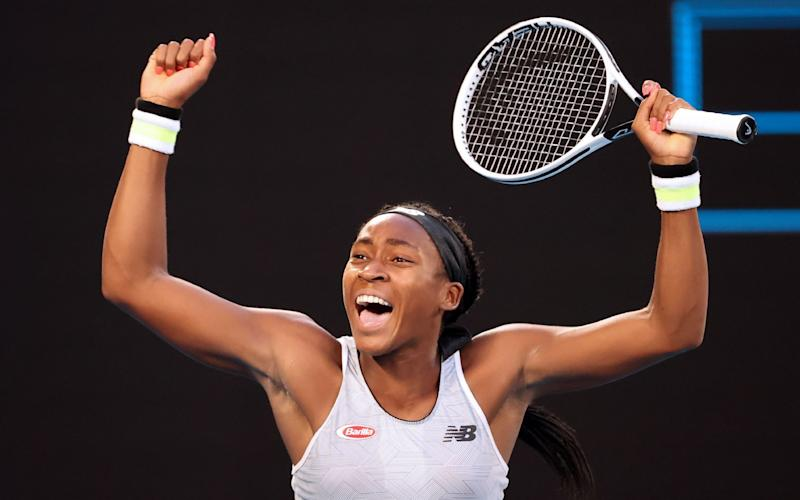 The 15-year-old outplayed Naomi Osaka to win in straight sets 6-3, 6-4 - AFP