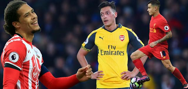 Van Dijk and Coutinho could be on the move but Ozil looks to be staying at Arsenal